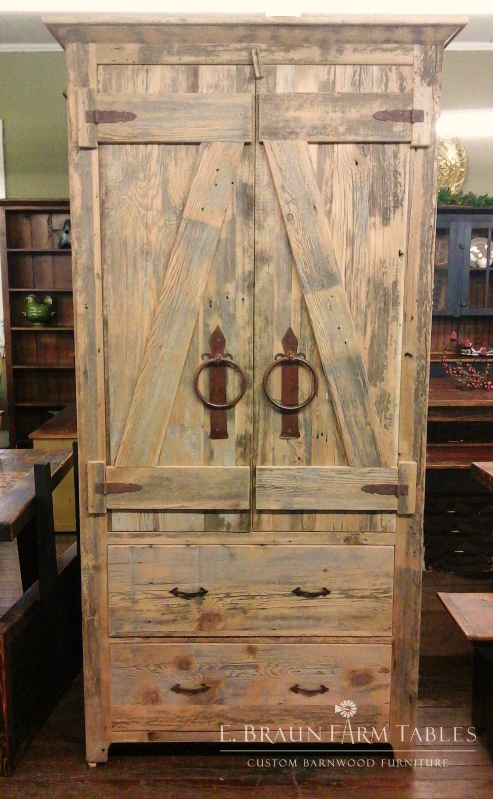 Barn-Style Doors on Armoire