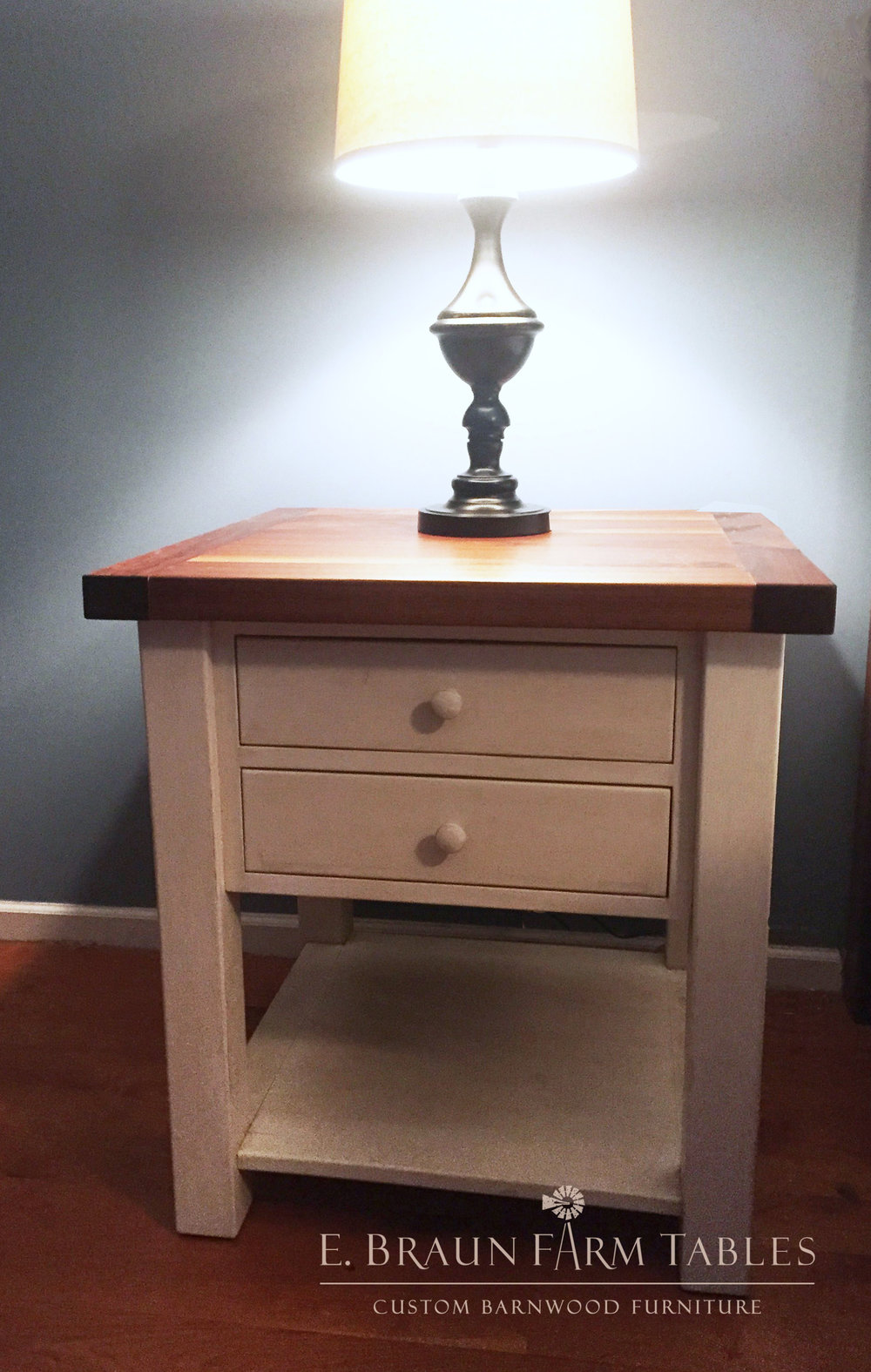 BR10 - Black Walnut and Pine Nightstand