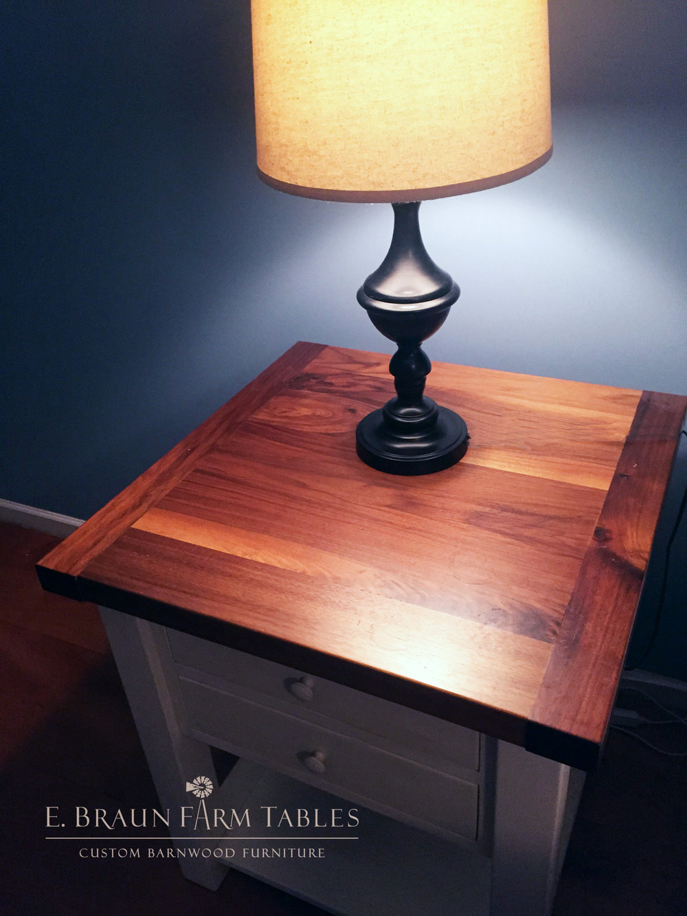 BR11 - Black Walnut and Pine Nightstand