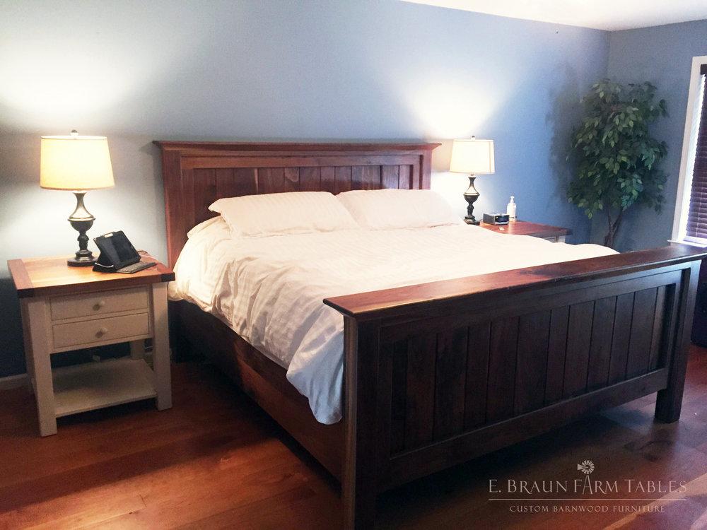 BR29 - Black Walnut Shelf Bed