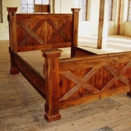 BR34 - Double X Barn Door Bed