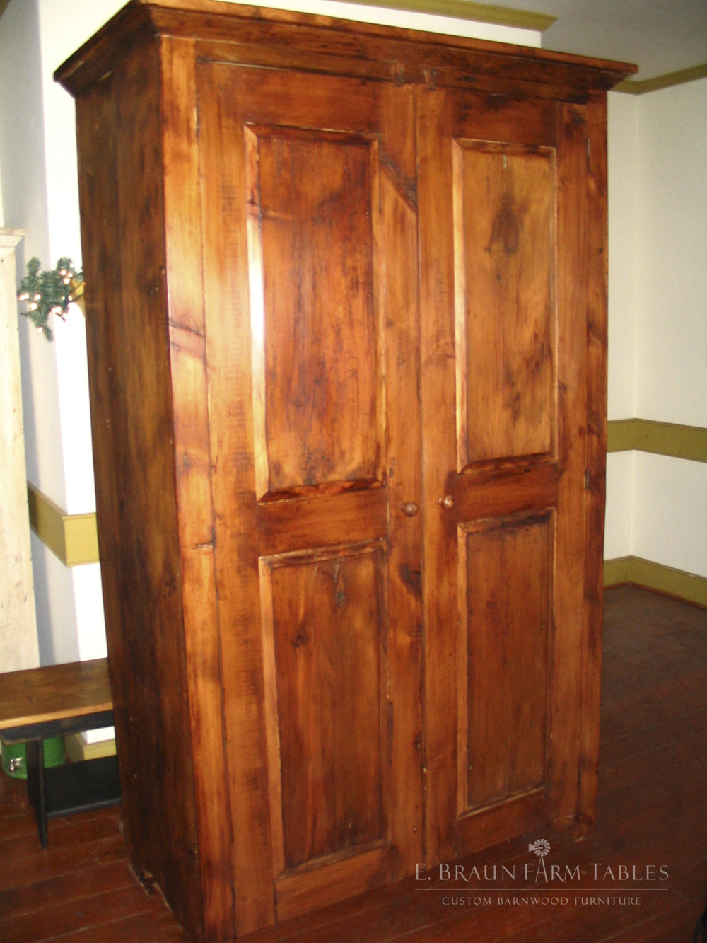 BR50 - Raised Panel Armoire/Wardrobe
