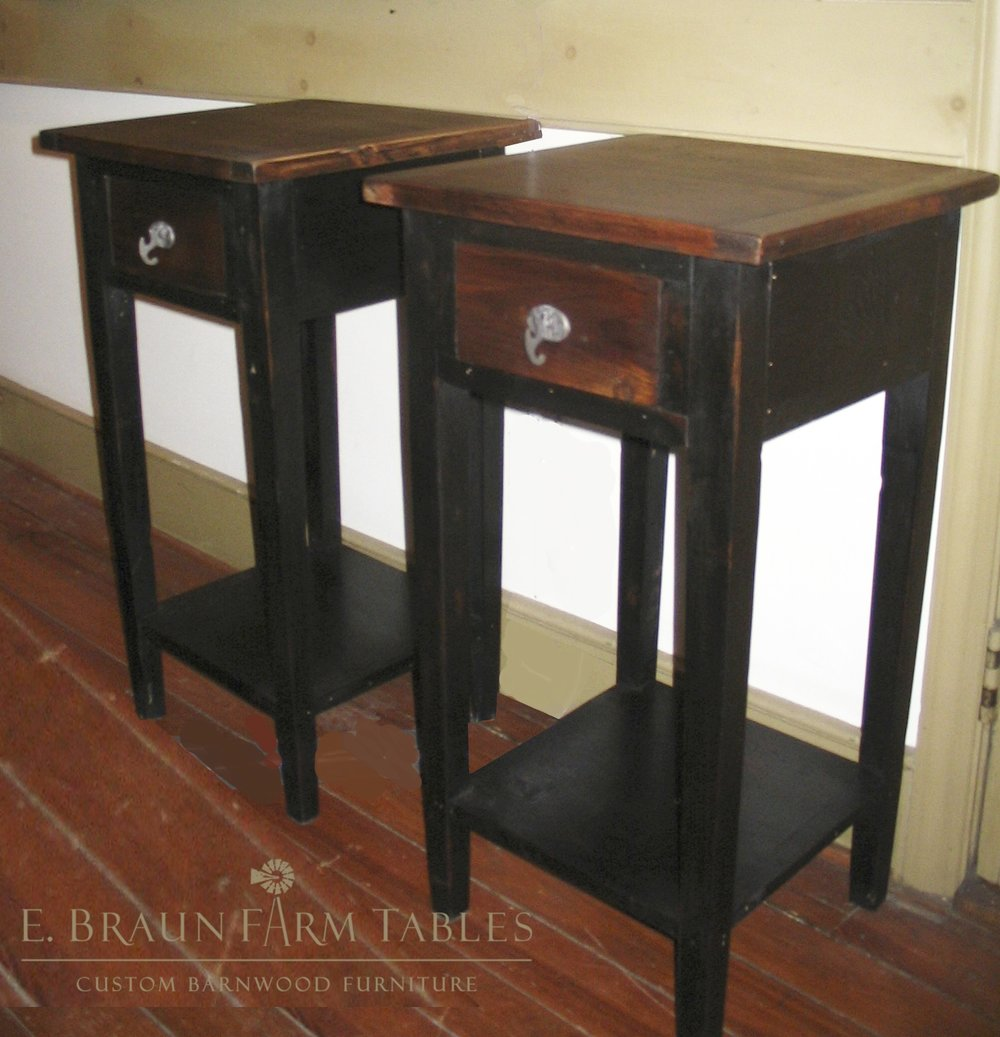 BR56 - Tall, Square Nightstands