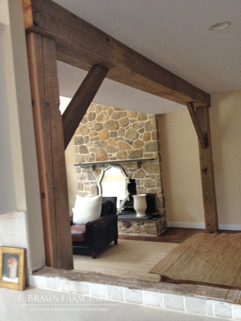 Reclaimed White Pine Beams 2