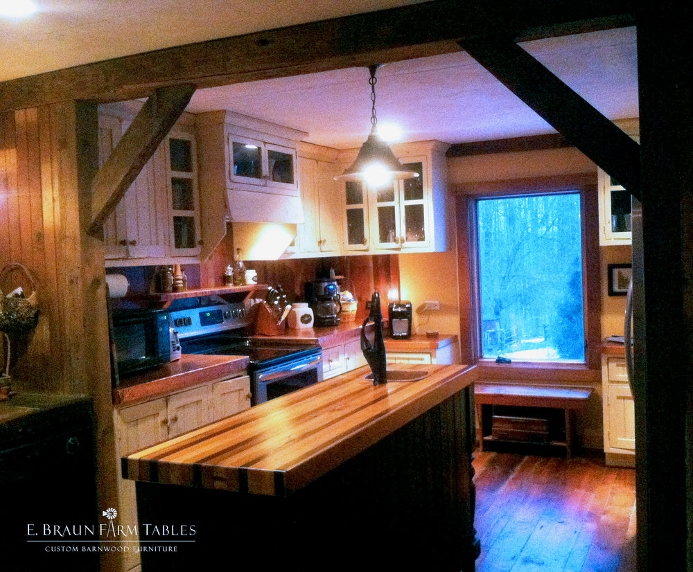 Reclaimed White Pine Beams 5