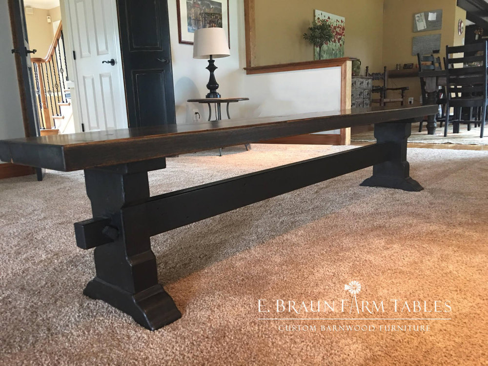 Chairs and Benches — E. Braun Farm Tables and Furniture, Inc.