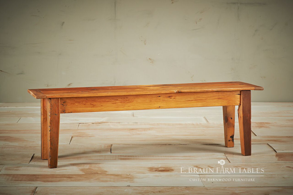 Tapered Leg Bench 2