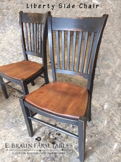 Liberty Side Chairs, two-tone