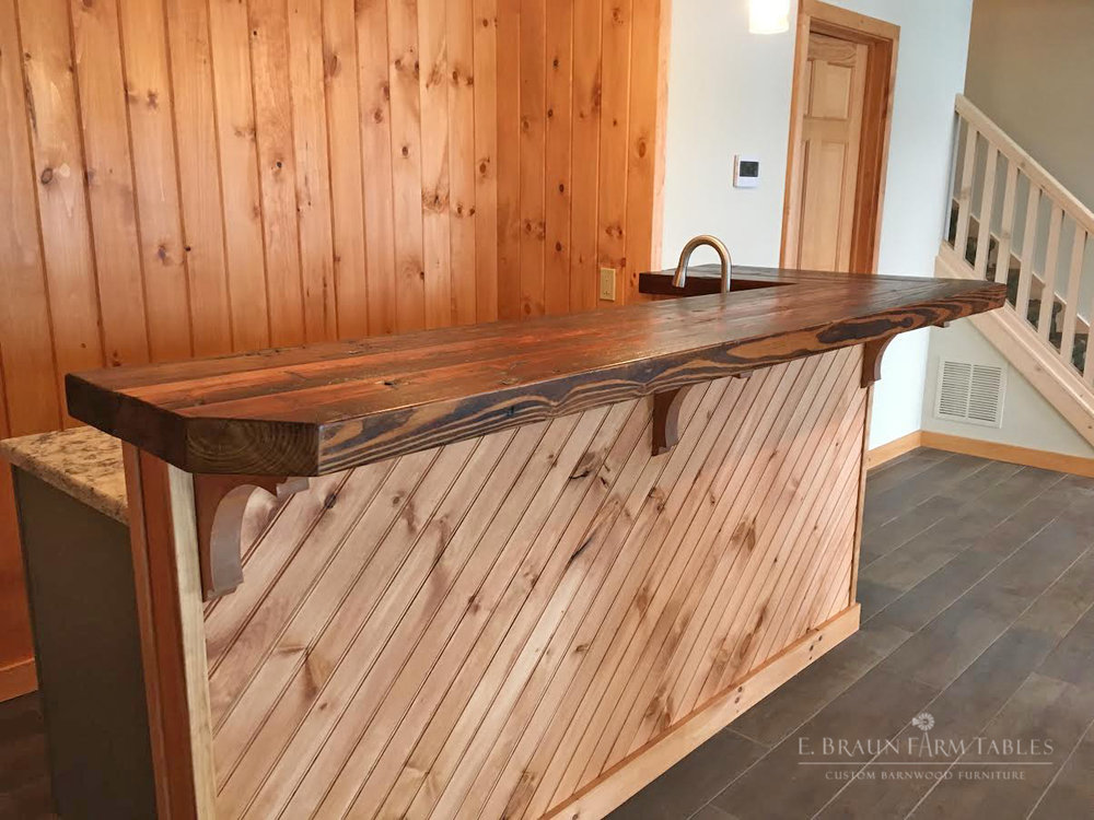 M2 - Reclaimed Hemlock Bar Top