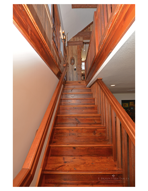 M25  - Staircase, Reclaimed White Pine