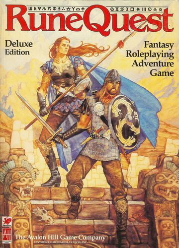 RuneQuest - Pub. Circa 1978A fantasy role-playing game set in Greg Stafford's mythical world of Glorantha.