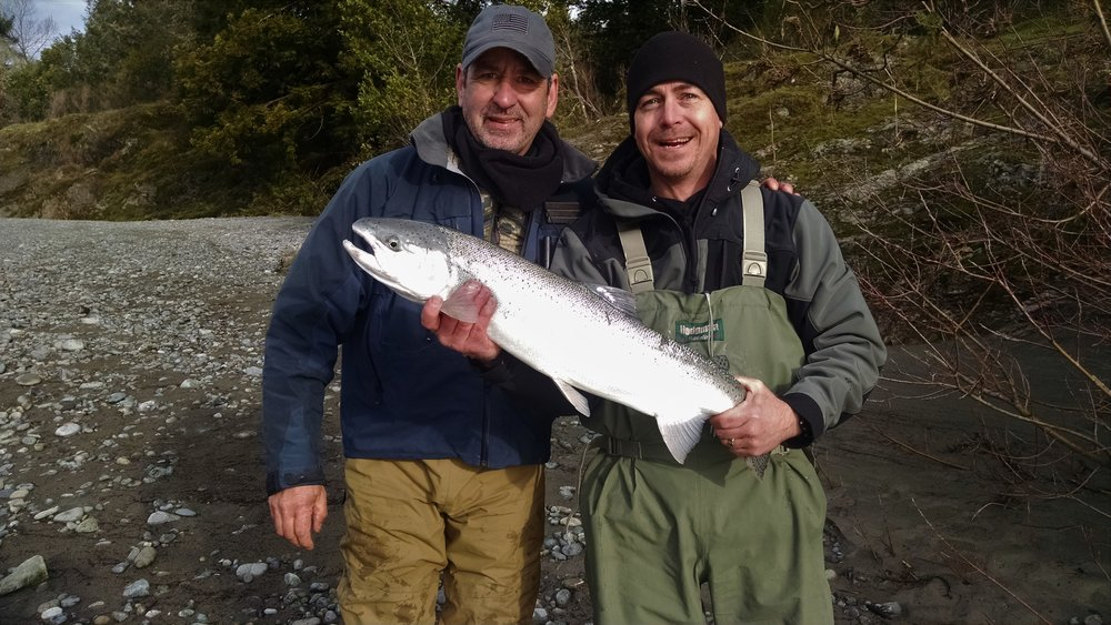 Dave and Basey with a chrome bullet.