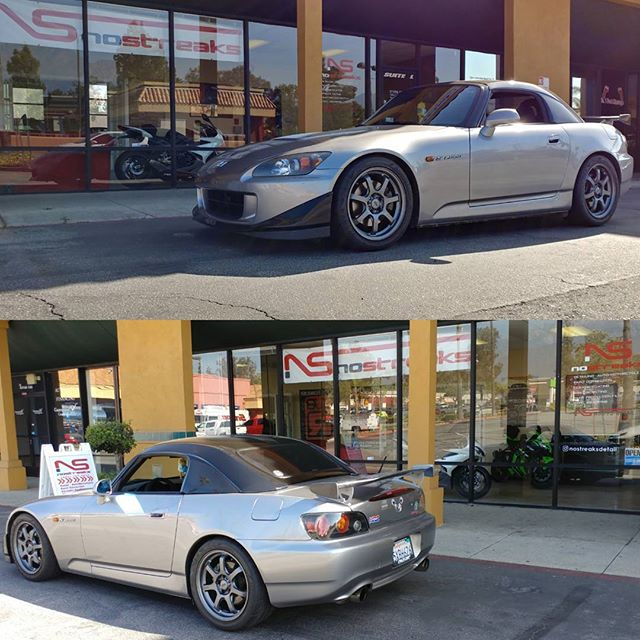 S/O to our old time riding buddy @princess_yow for coming out for a visit!  #CBR600rr #Rider #Upland #LosAngeles #NoStreaksDetail #PleaseCheckYourMirrors #S2k #S2000 #Mugen  855-75-DETAIL No-Streaks.com