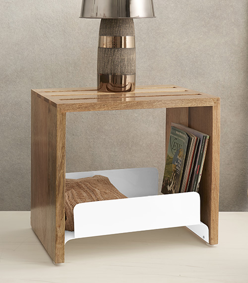 driftwood end table natural