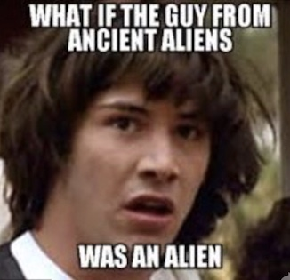 12. Conspiracy Keanu asks the tough questions. -