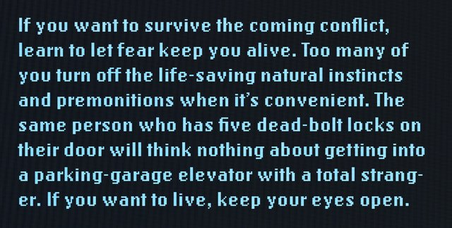 Titor's ominous advice for the people of the early 21st century.