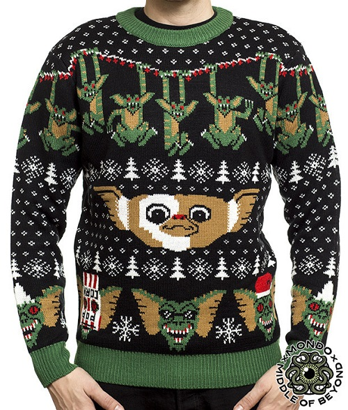 Better not feed this Gremlin sweater after midnight, or it'll turn into an even uglier sweater. -