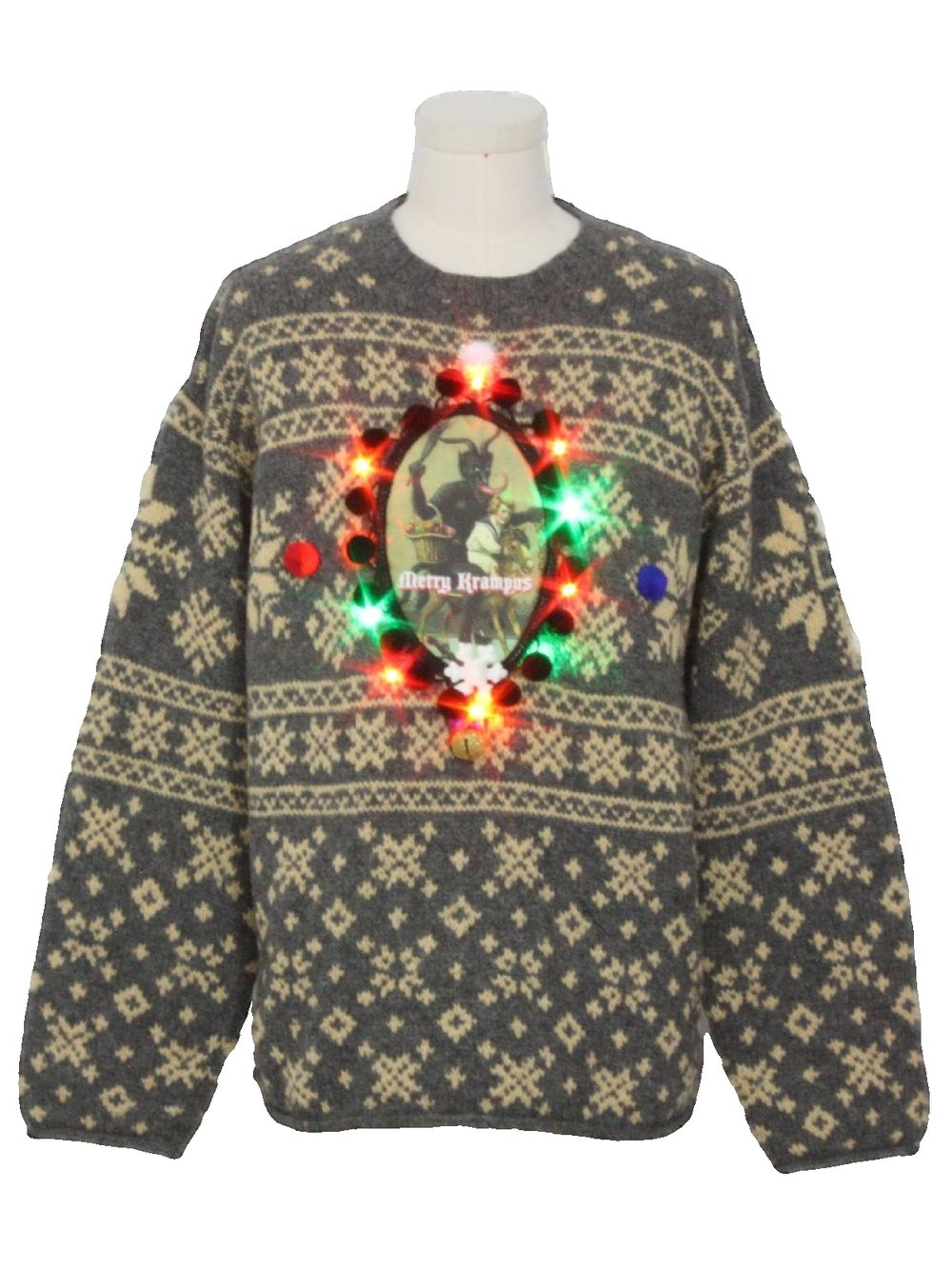 The only thing worse than this ugly Krampus sweater is paying $69.00 for this ugly Krampus sweater. -