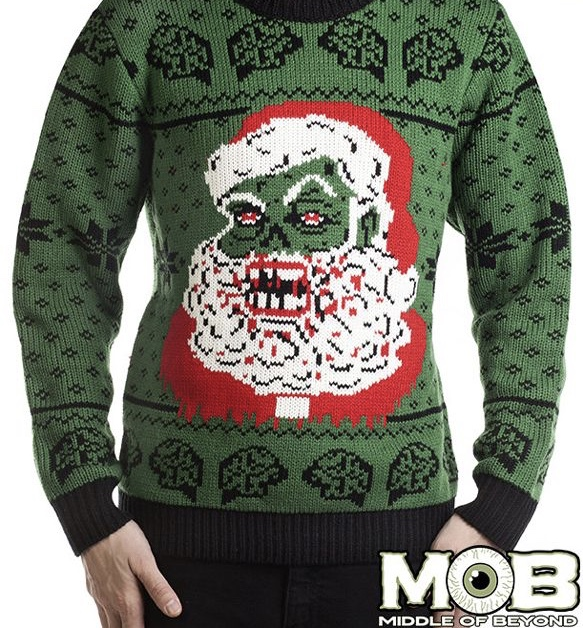 Zombie Santa is going to need a little more than milk and cookies when he lumbers down your chimney. -