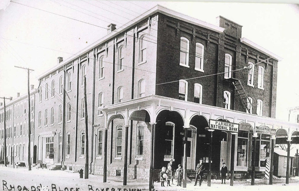 The Rhoads commercial building before the fire.