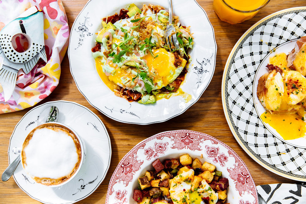 Fall brunch spread at The Commissary