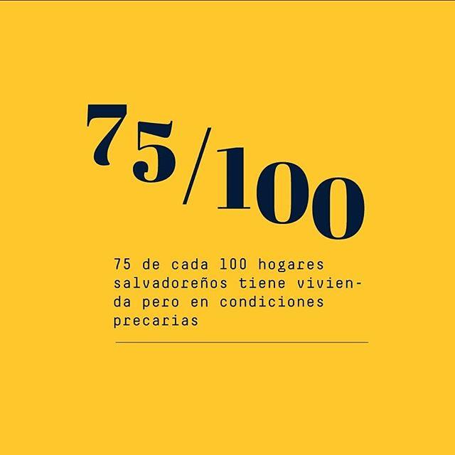 El 16 % de hogares salvadoreños no cuenta con vivienda y el 75 % la posee en condiciones precarias, es decir que #ElSalvador tiene una crisis habitacional del 90 %, una de las más altas de la región. Entérate de más datos en el link de nuestra bio 🔝