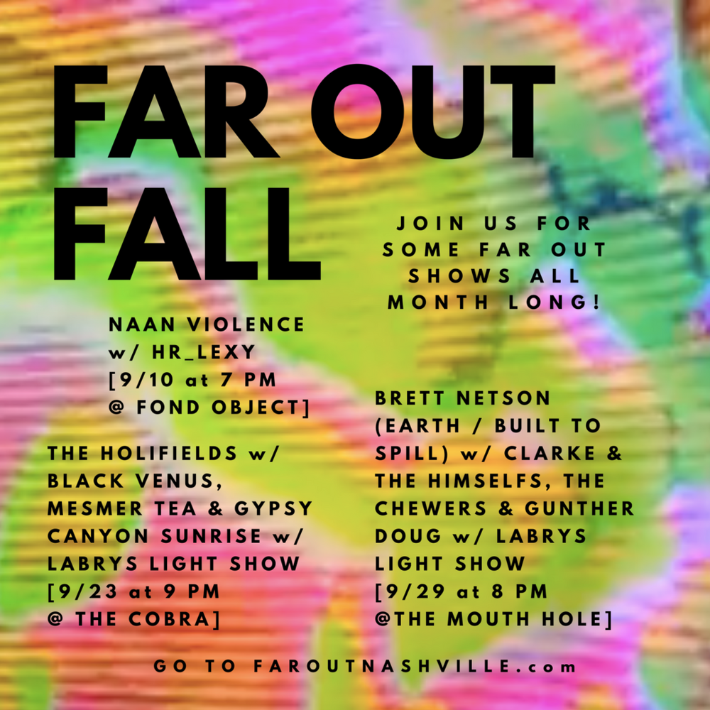 FAR OUT NASHVILLE FALL CALENDAR