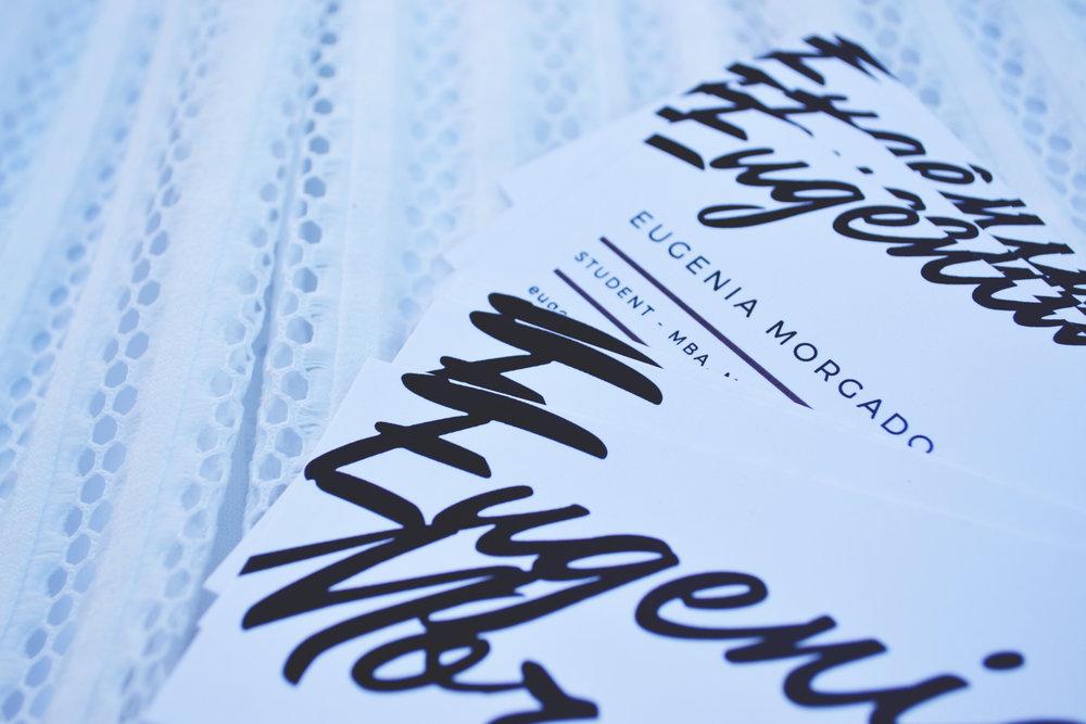 Business Cards Eugenia Morgado