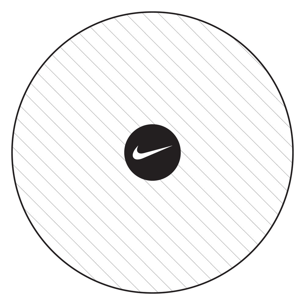Nike's core brand & playground (Solid Black is core)