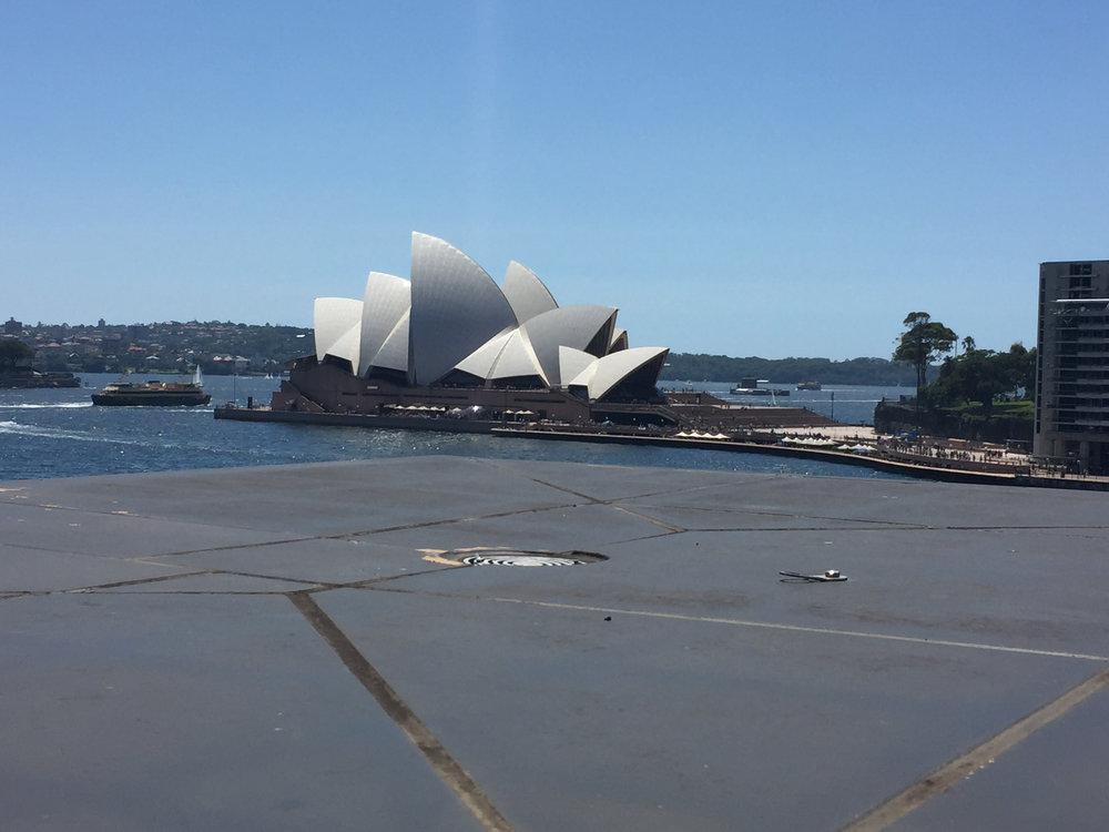 THE VIEW OF THE OPERA HOUSE FROM THE CONTEMPORARY ART MUSEUM