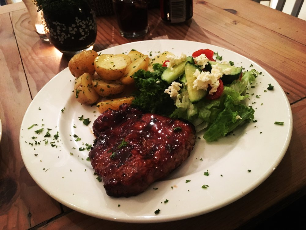 TRY THE STEAK AT BACKYARDS LOCATED IN SEA POINT - THE BEST MEAT THAT I FOUND THERE!