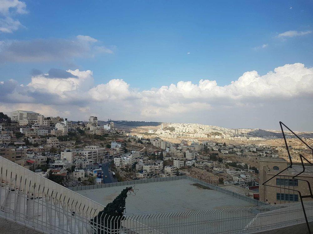 View from the Pilgrim Residence hotel balcony. Copyright: Sherry Bekhet