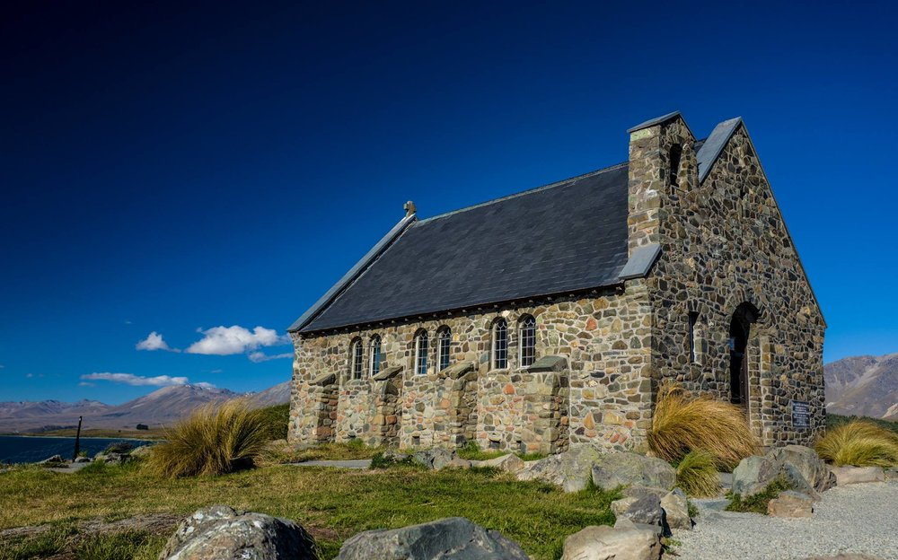 CHURCH OF GOOD SHEPHARD, LAKE TEKAPO. COPYRIGHT SHUB GOSWAMI