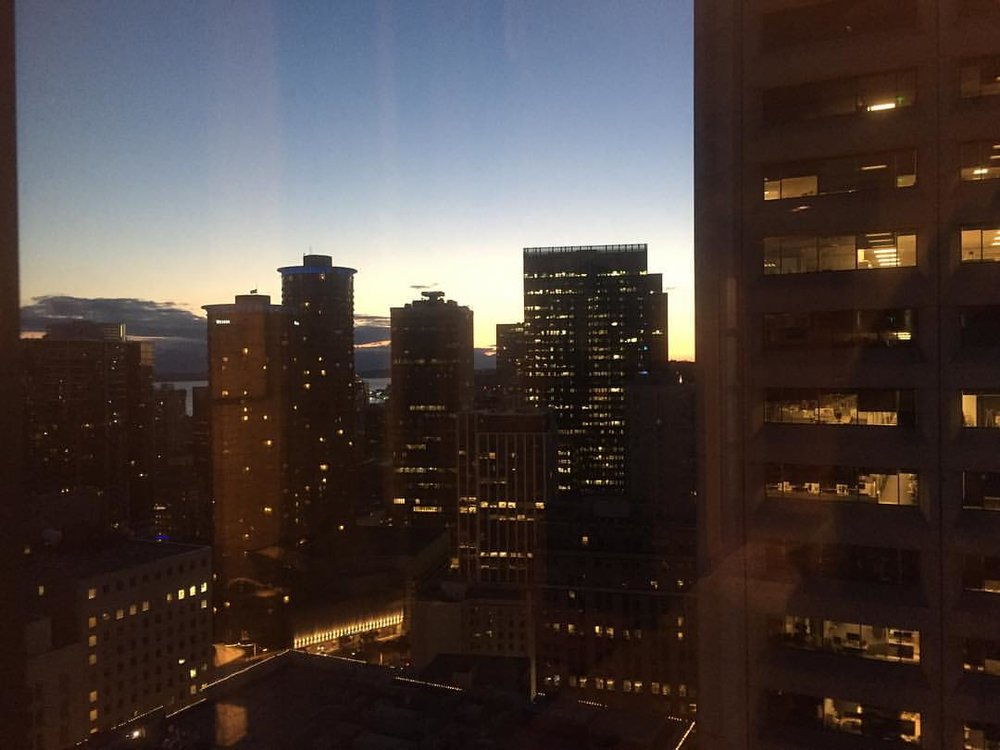 VIEW FROM OUR ROOM AT THE GRAND HYATT SEATTLE