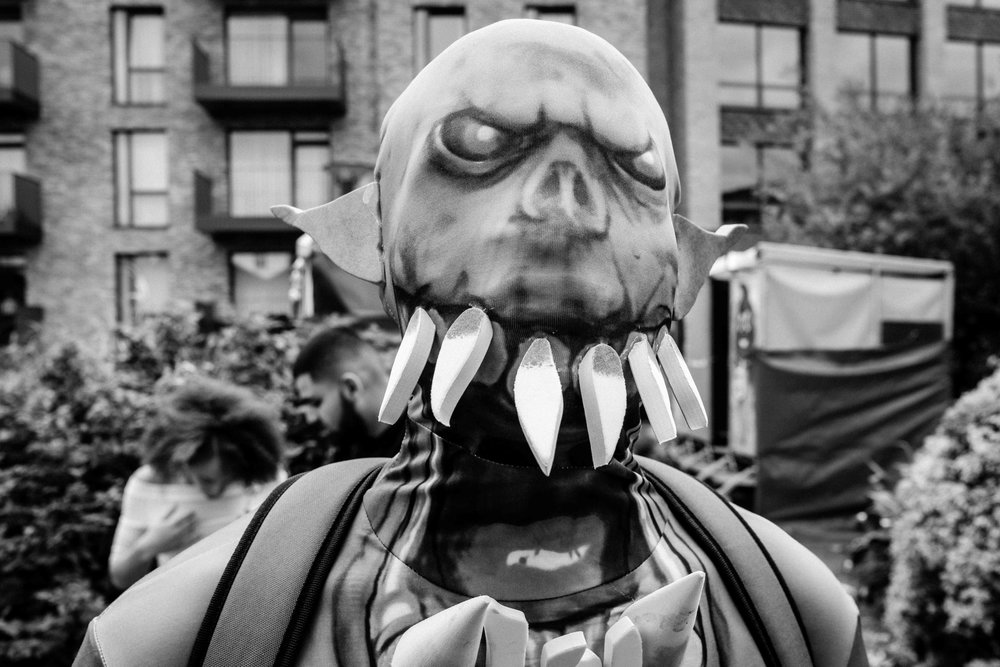 The mask (B&W) - Notting Hill Carnival, London 2018_Small.jpg