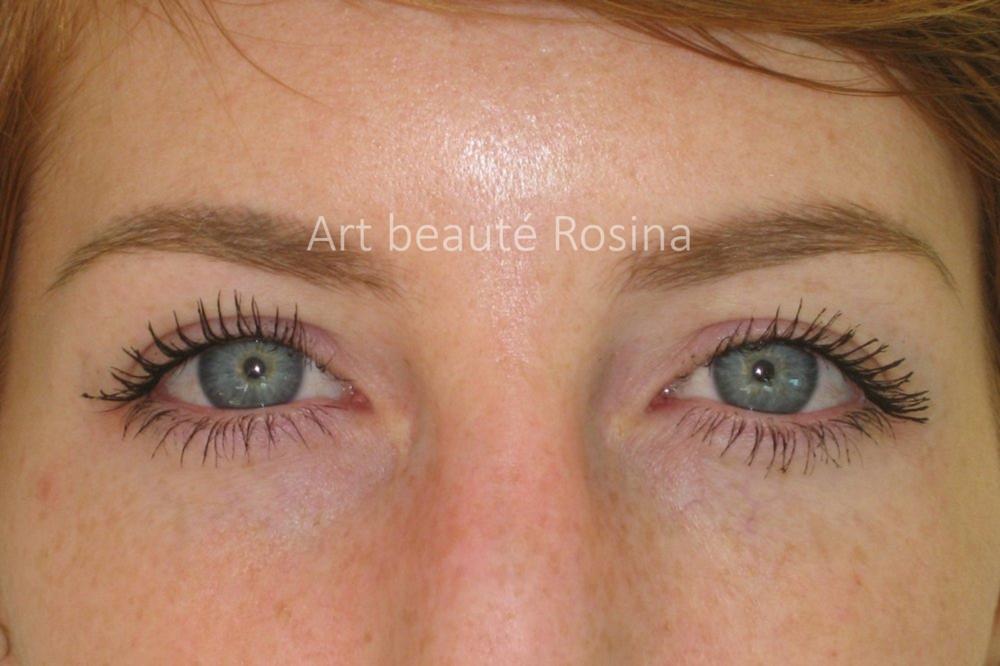 Résultat 1 mois après la pigmentation des sourcils