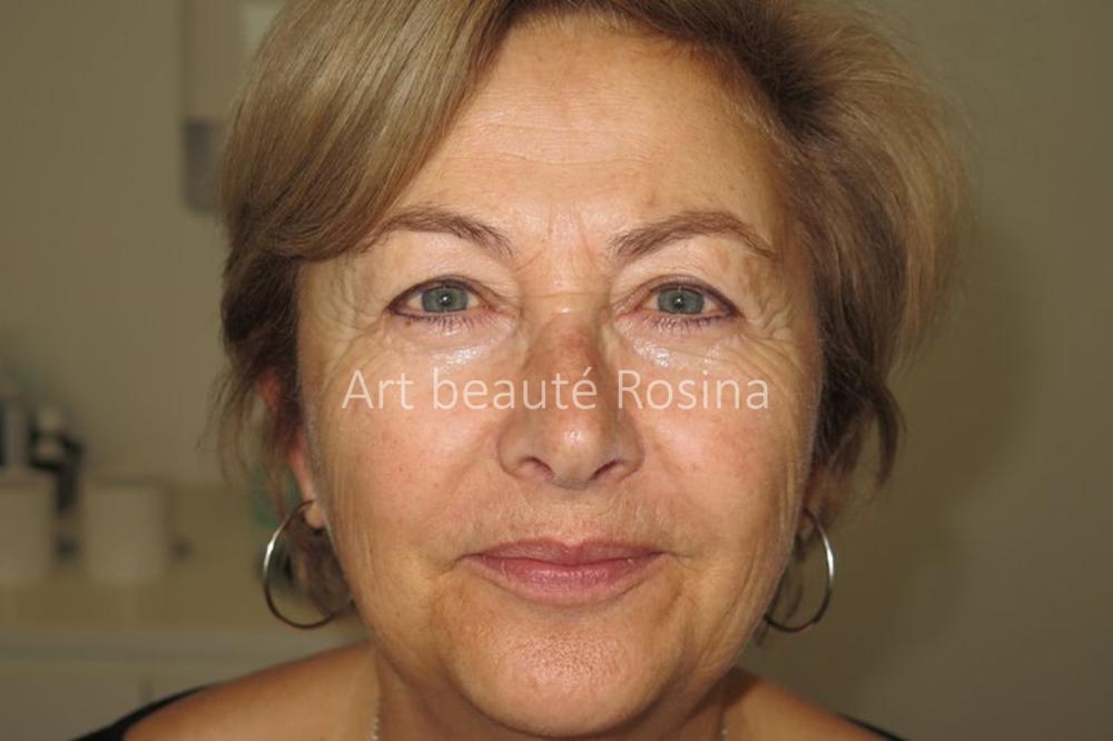 Eyeliner haut et bas ancienne pigmentation et bouche naturelle