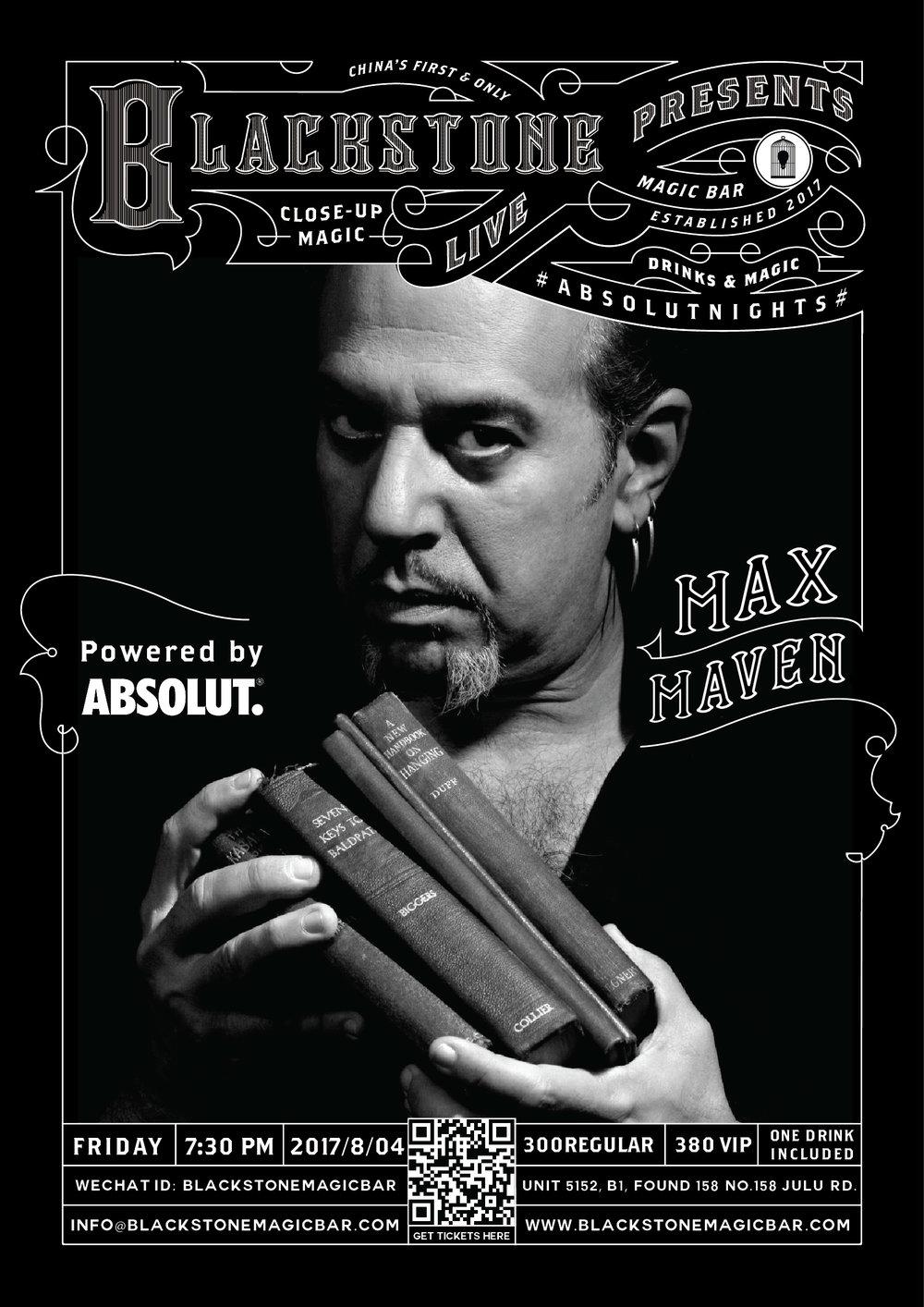 BLACKSTONE LIVE-BY MAX MAVEN