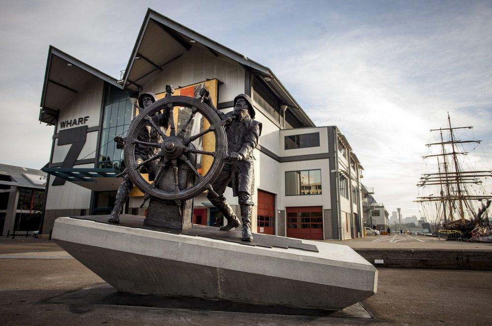 Windjammers Sculpture. Maritime Museum. Sydney Art
