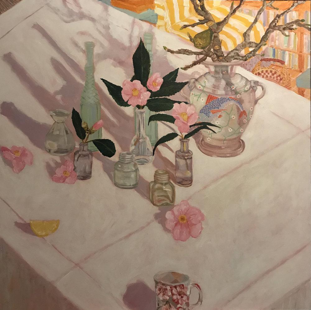 Image: Kiata Mason,A Life Collected,2017, acrylic on canvas, 91 x 91cm