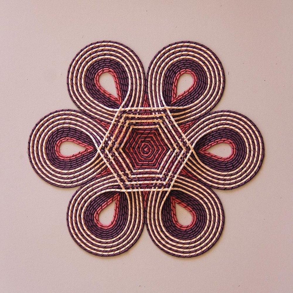 Gunjan Aylawadi, Firdus II,  2017, curled paper and adhesive, 255 x 283mm