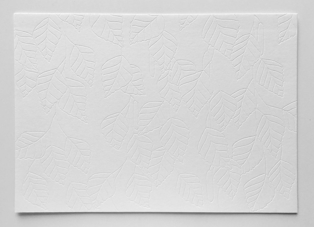 Marine Coutroutsios,  Is this a hug or a smack?  2017, carved drawing on paper, 250 x 140mm