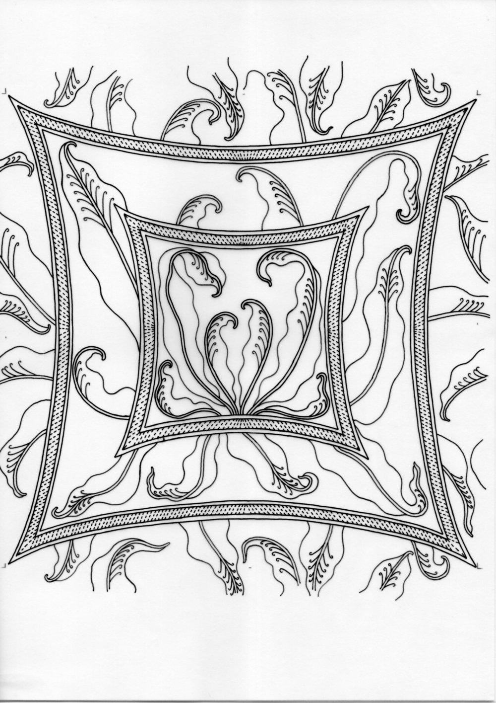 Javanese Batik Fern – Inked Drawings