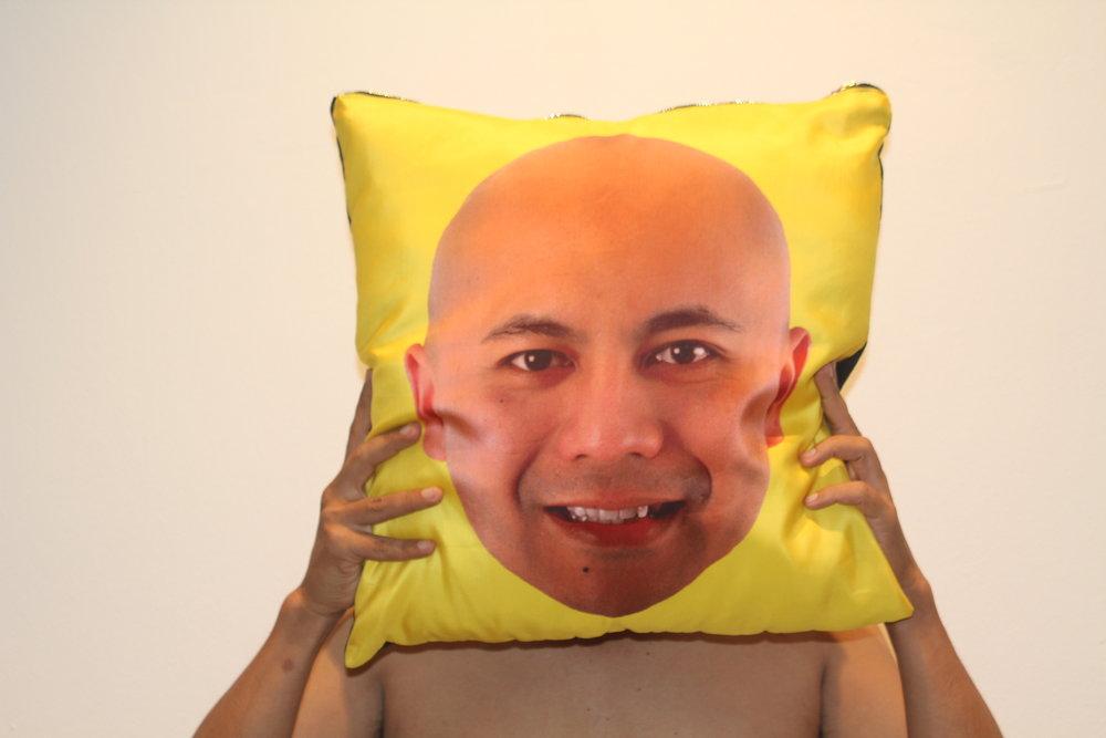 Cushion: Made 4 Sin - yellow