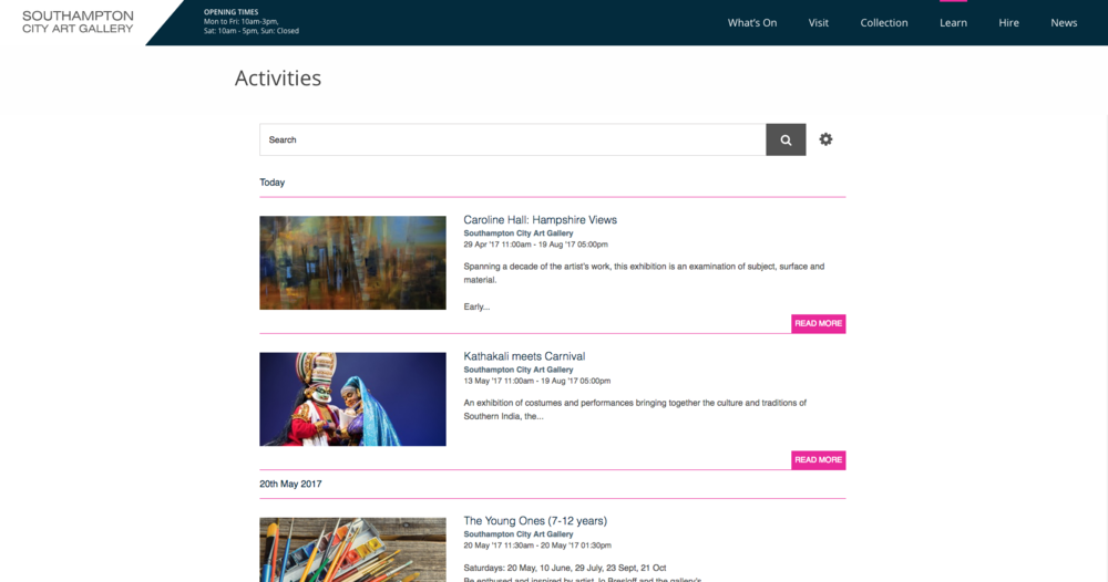 Southampton City Art Gallery Events Page.png