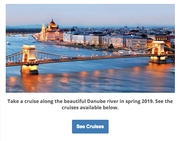 Use the Smart Linking Cruise Search for your newsletter campaigns.