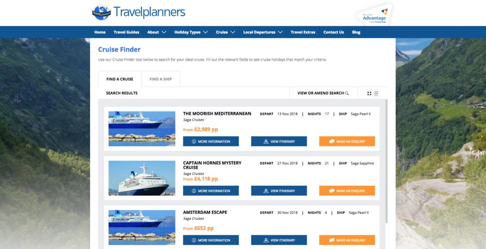 Saga Cruises on Travelplanners