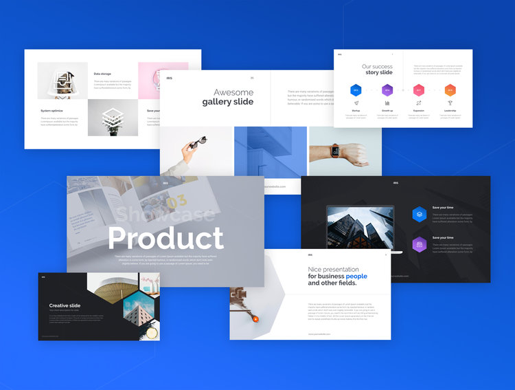 iris presentation template (free) — 34 powerpoint and keynote, Powerpoint templates