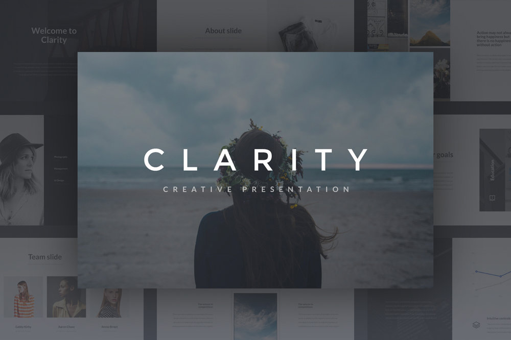 Clarity Presentation - Clarity it's simple and beautiful presentation for PowerPoint and Keynote. Clarity includes 160 total slides.