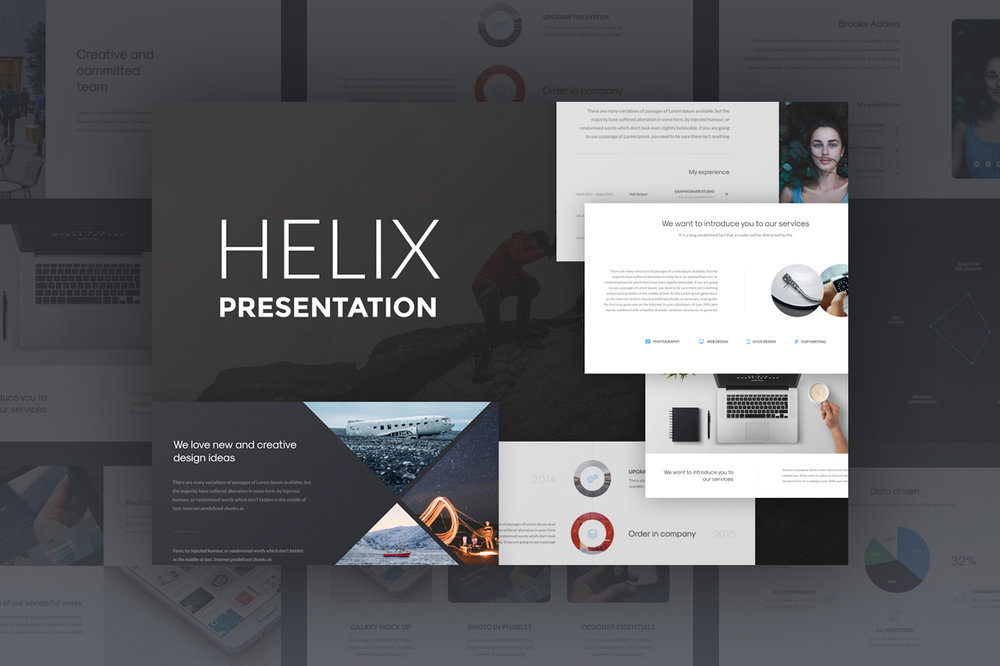 Helix Presentation - Helix it's powerful 160 total PowerPoint and Keynote slides designed for business.